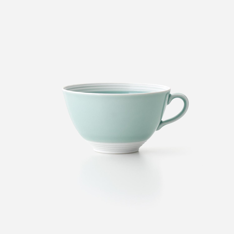 青磁白彩 スープカップ