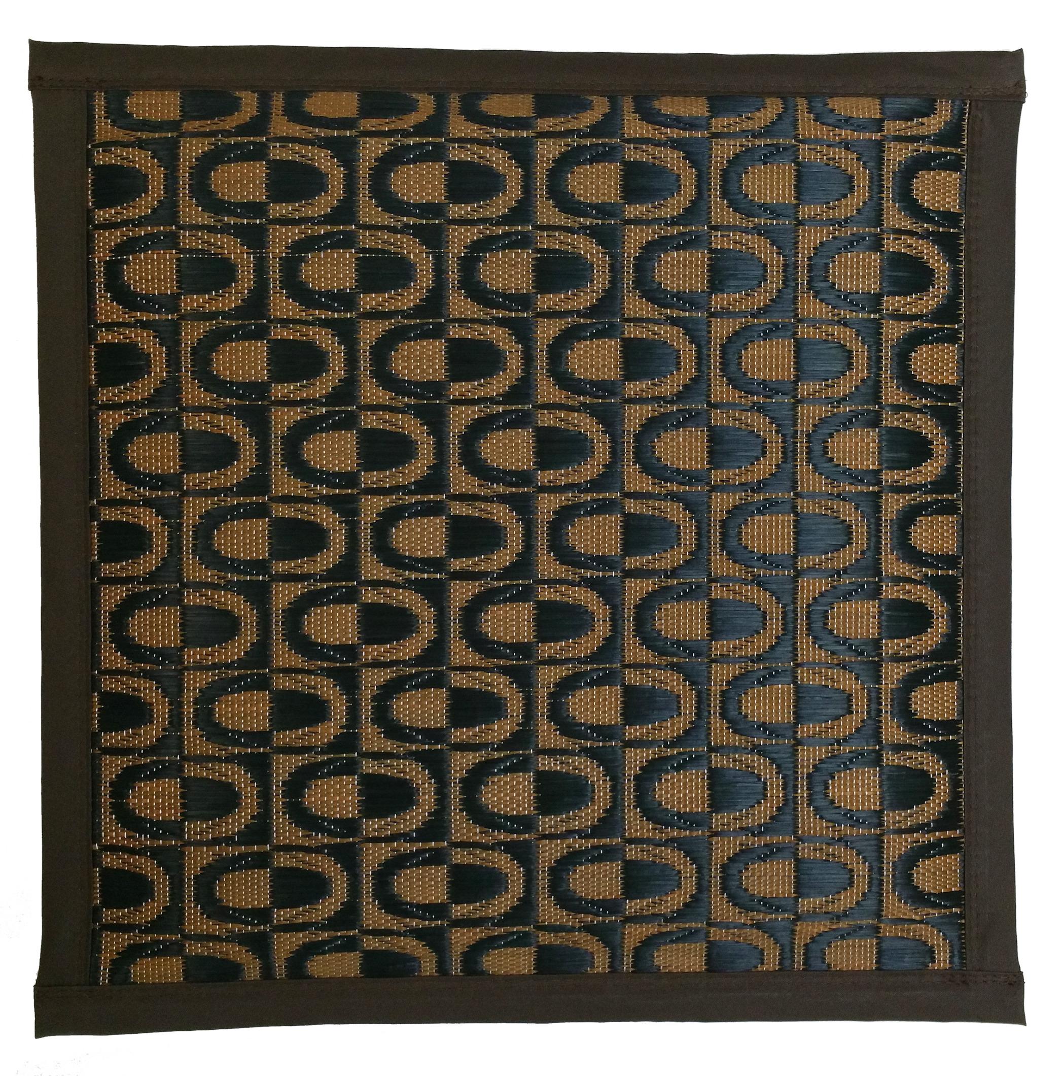 【純国産 い草座布団】袋織 ブラウン 45cmx45cmx3cm  Japanese Rush Grass Cushion : Brown