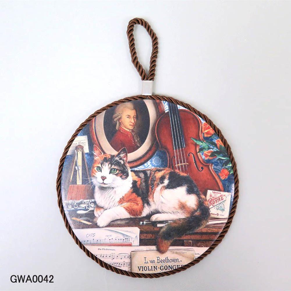 猫トリベット鍋敷き(アンティークキャット)ミュージック