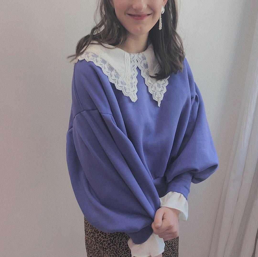 ♡cutie collar blouse (white)