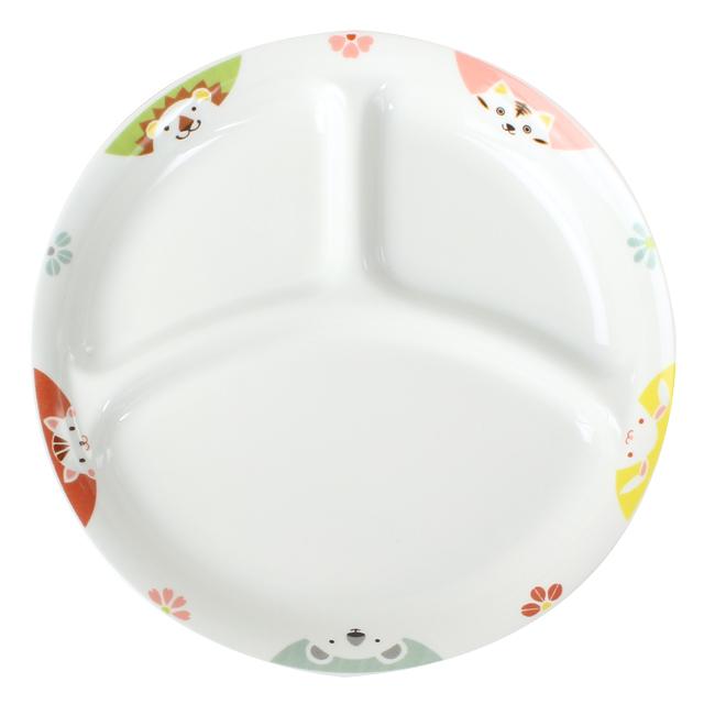 【1726-1370】強化磁器 22cm 仕切皿 かくれんぼ