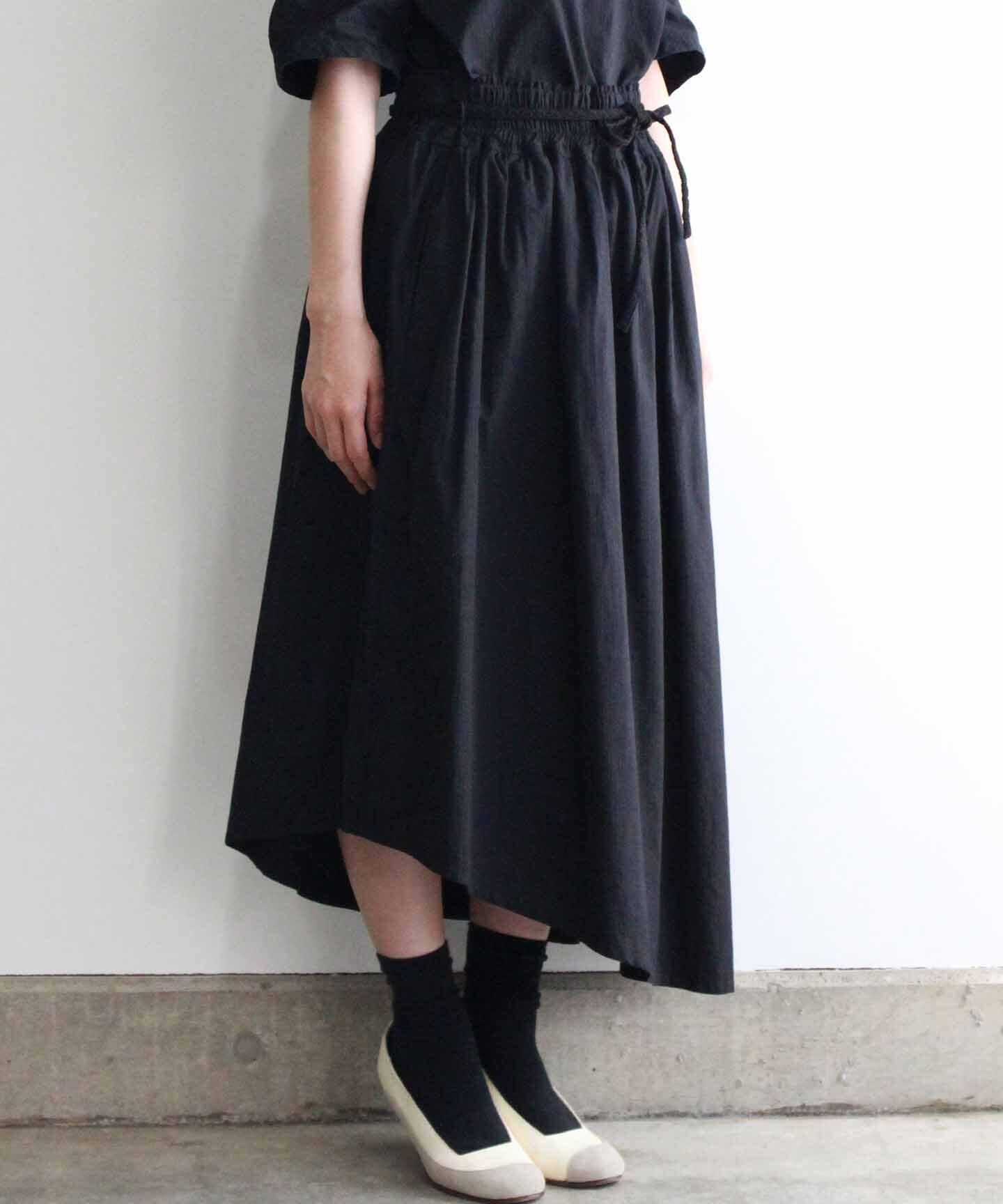 【予約商品】製品染めスカート(evi230 RED/レッド・GRY/グレー・BLK/ブラック)