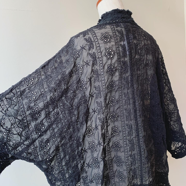 vintage dolman lace haori
