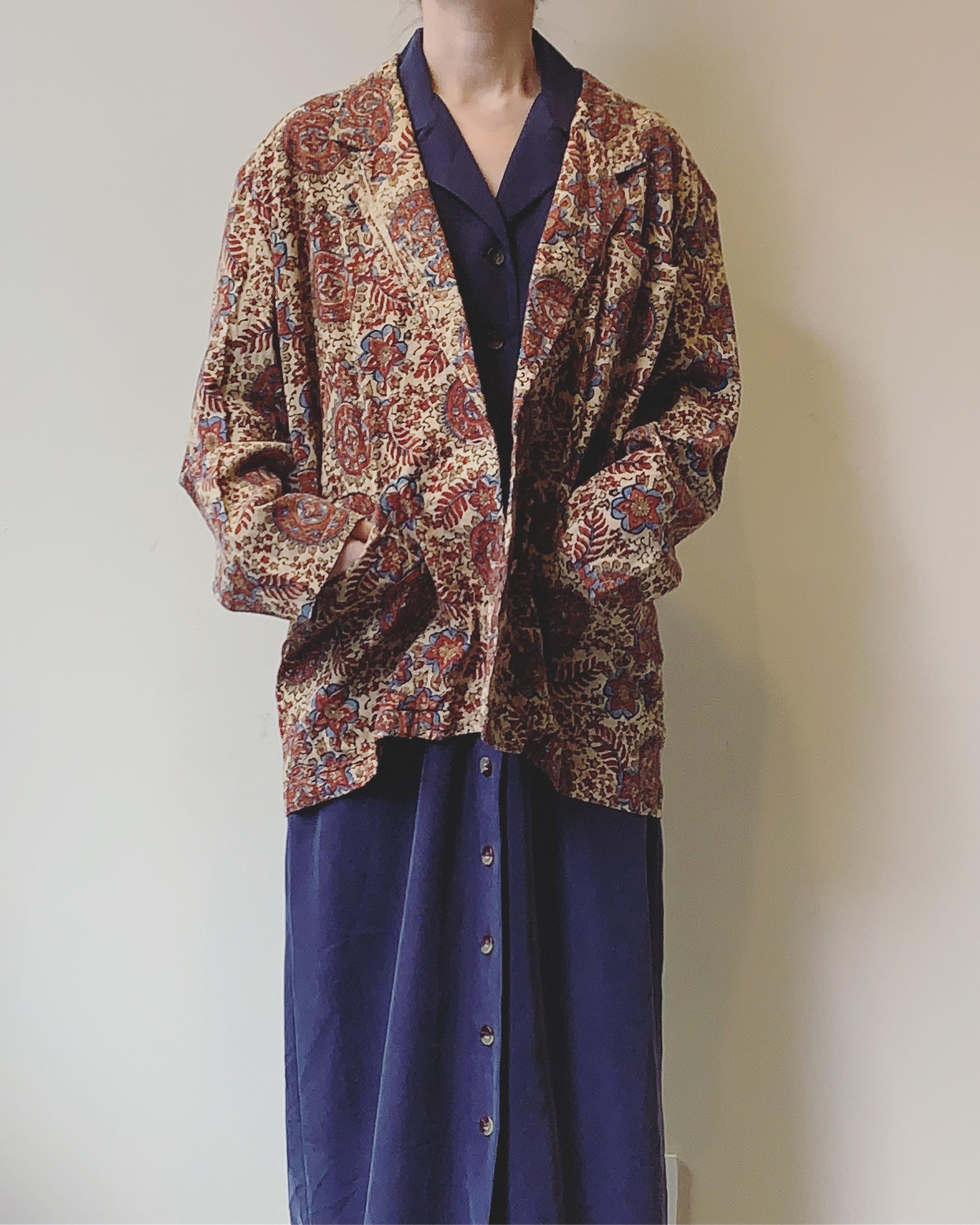 vintage blockprint jacket