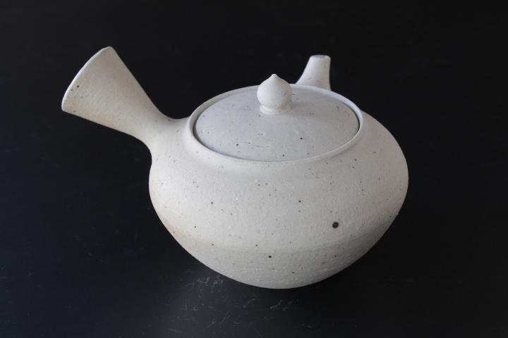 山崎さおりさん急須 白 煎茶用