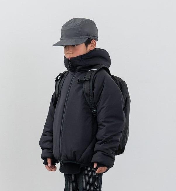 MOUN TEN. マウンテン air mitten blouson col.:black size:110~140
