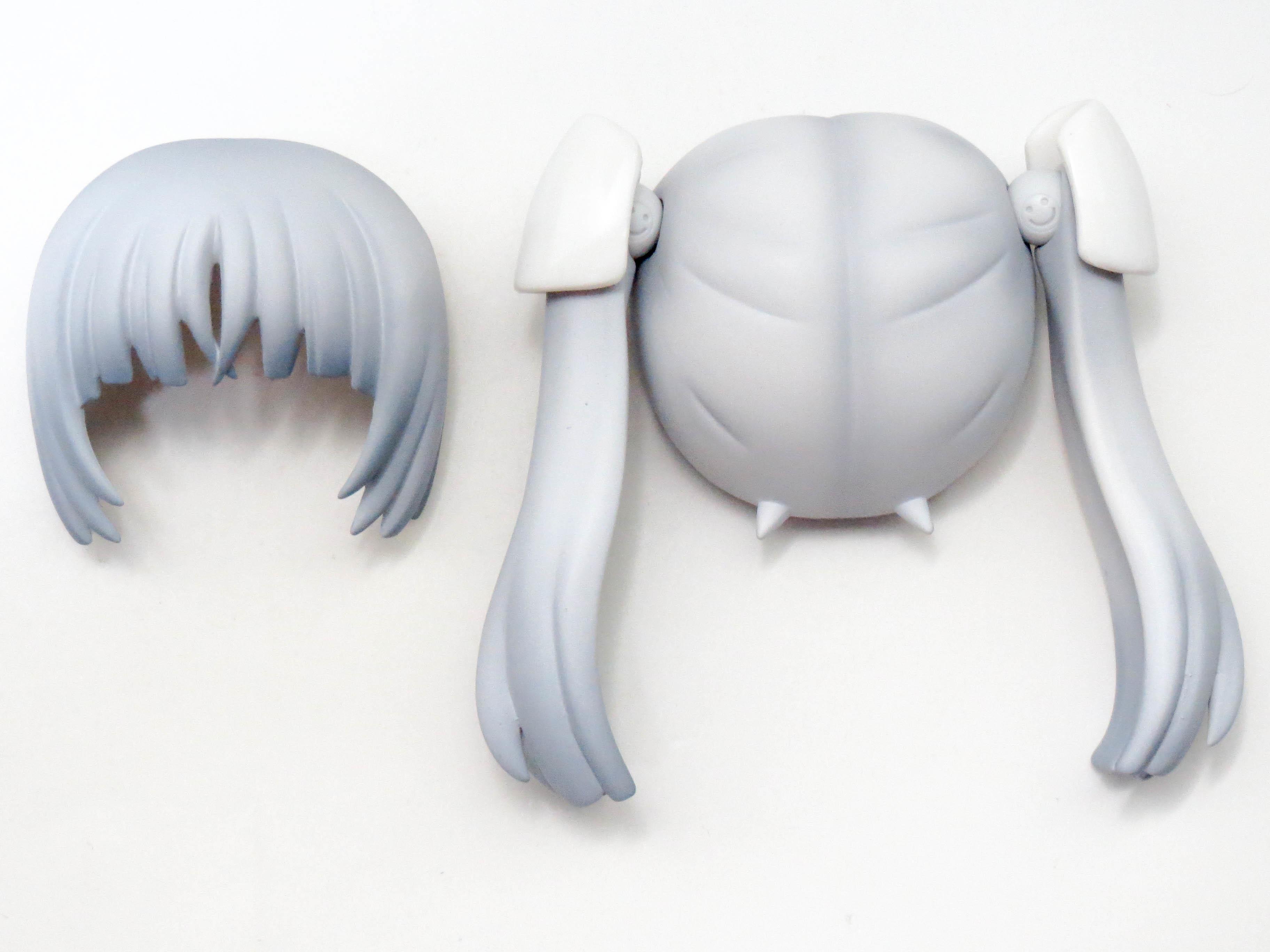 【406a】 ミス・モノクローム  髪パーツ ツインテール ねんどろいど