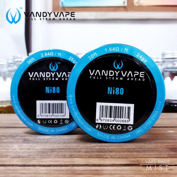 【正規品】Ni80 Wire(ニクロムワイヤー)・VANDY VAPE [VAPE ワイヤー](24ga/26ga/28ga)