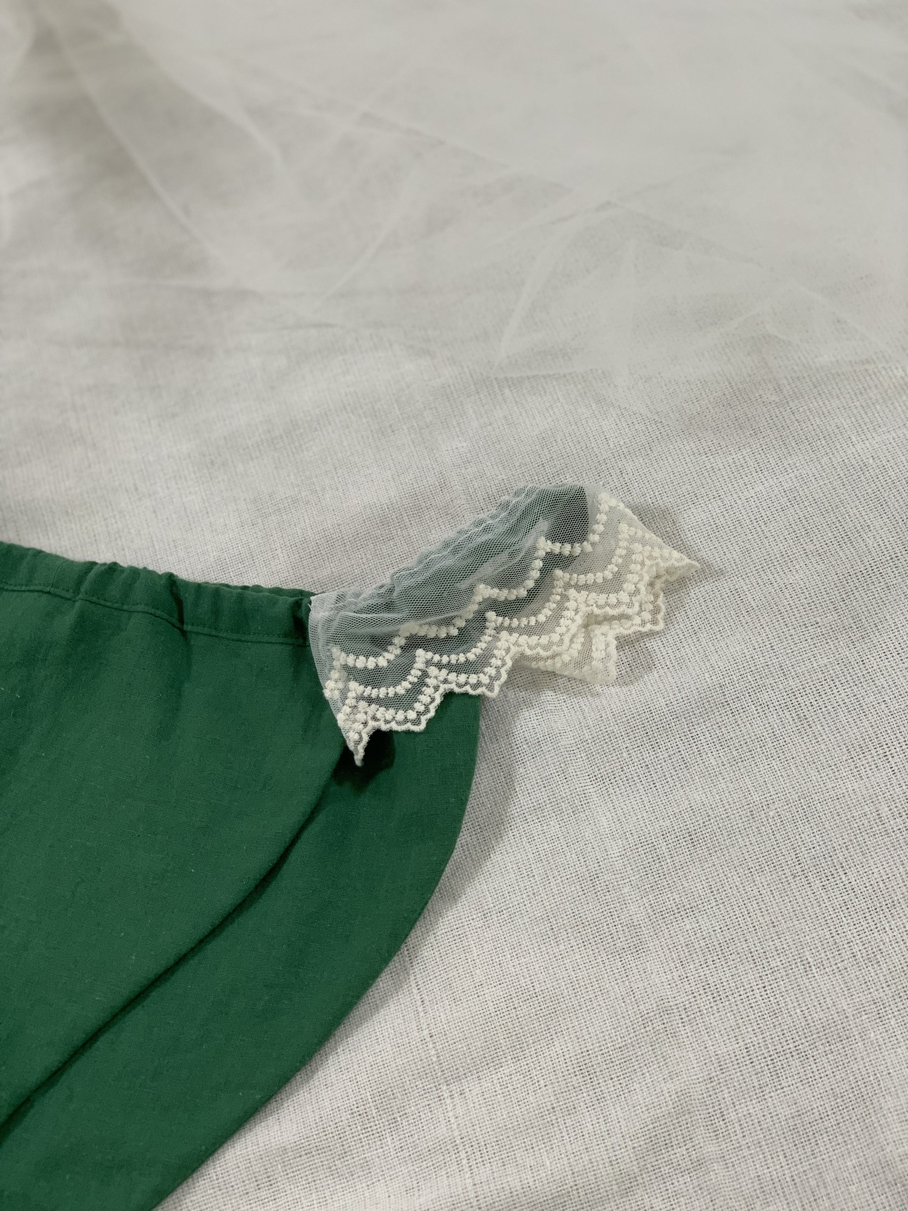 asagoromo*lace付きゴムタイプ グリーン