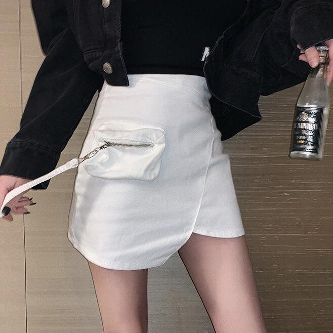 zipper pocket skirt