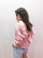 【KissMeLove】back open shirt