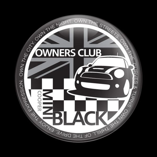 ゴーバッジ(ドーム)(CD0376 - MINI OWNERSCLUB BLACK) - 画像1