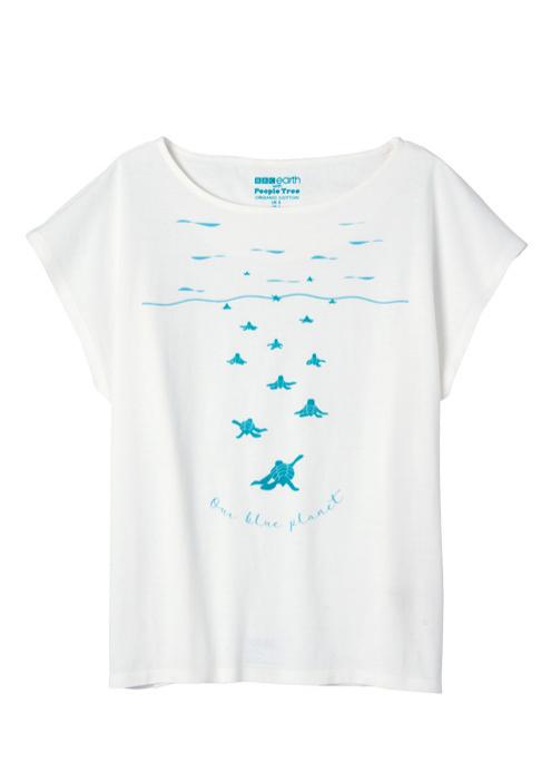 【ピープルツリー】BBC Earth  フレンチスリーブTシャツ(オーガニックコットン)