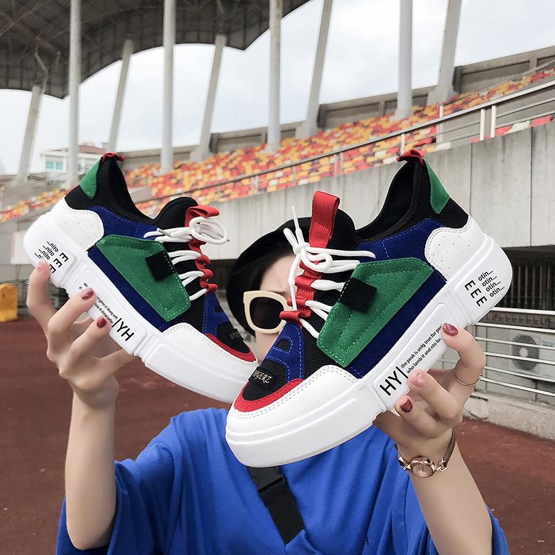 【shoes】カジュアルPUアルファベットスニーカー14734423