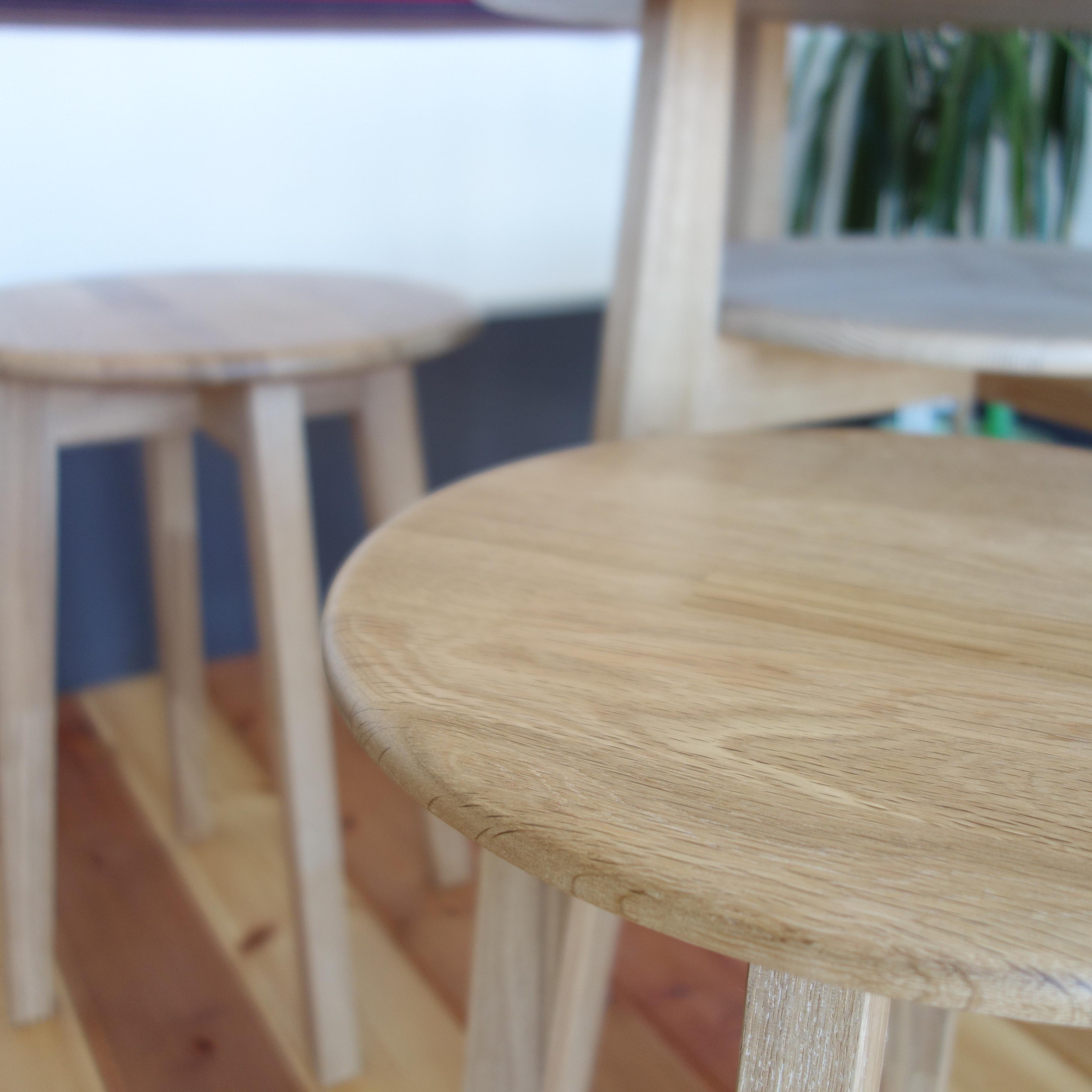 【カフェテーブル 3点セット】 テーブル×1 スツール×2 - 画像6