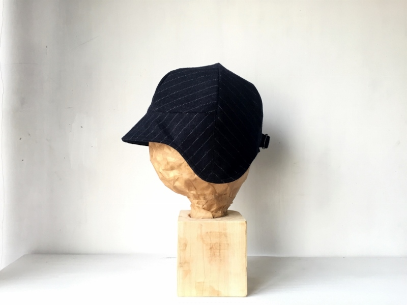 DEERCAP | WOOL BLACK STRIPE