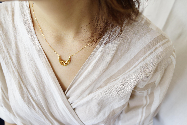 【刺繍ネックレス】Moon-mini/gold✴︎