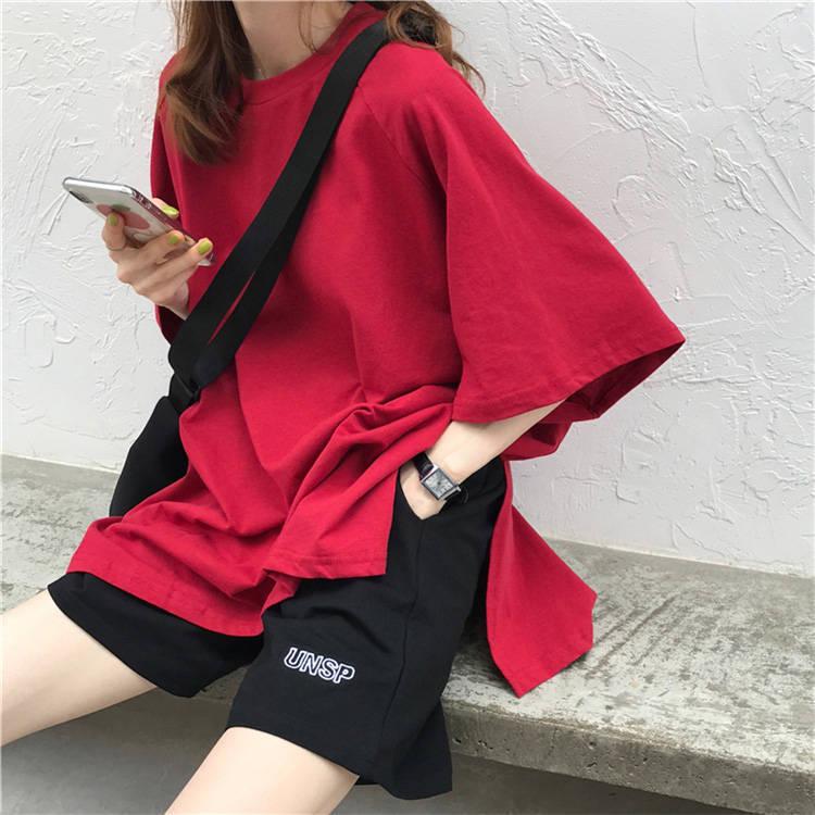 【送料無料】 ゆるだぼセットアップ♡ カジュアル メンズライク オーバーサイズ Tシャツ × カーゴ ハーフパンツ 2点セット