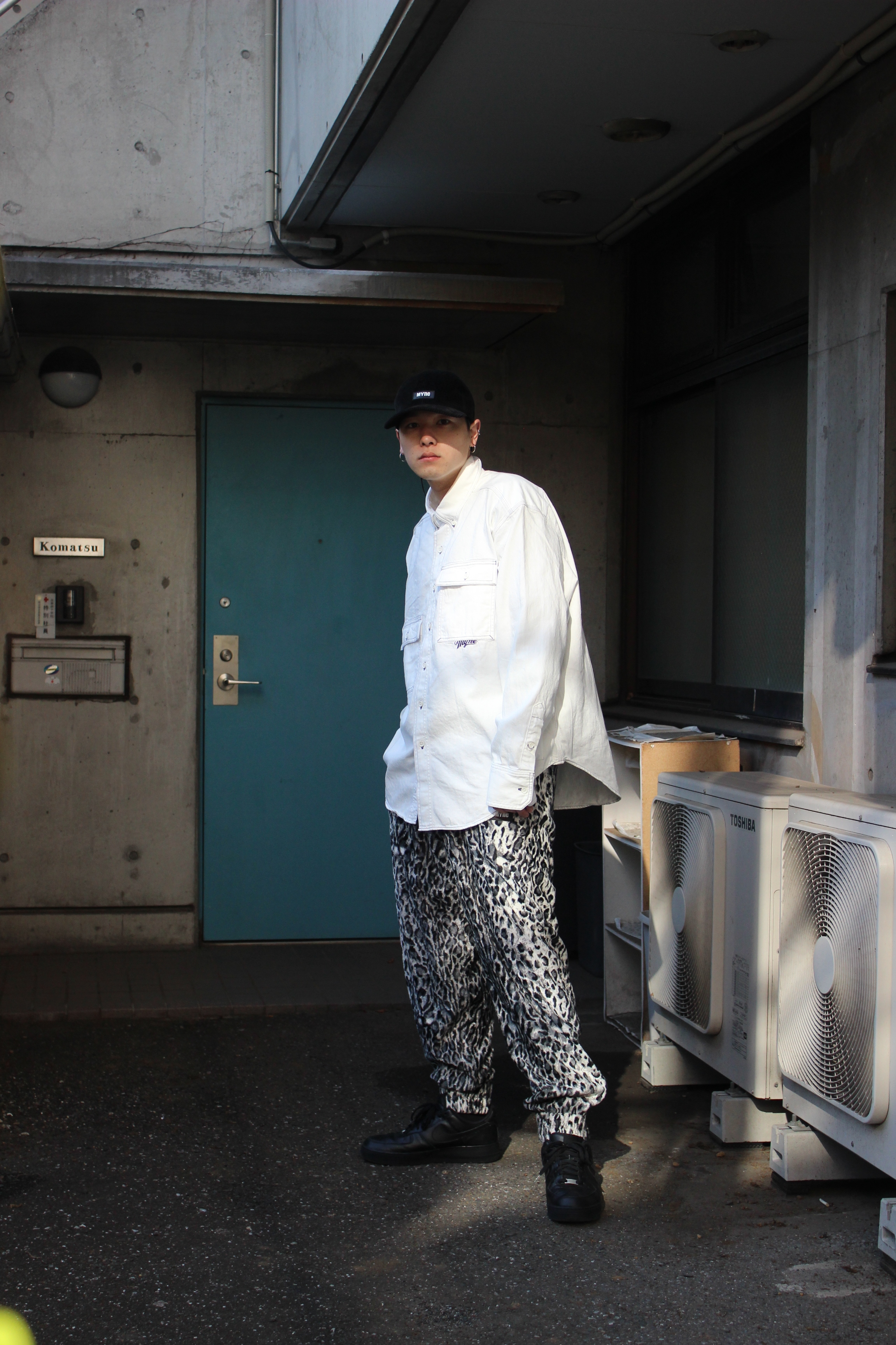 LEOPARD TRACK PANTS / BLACK - 画像4