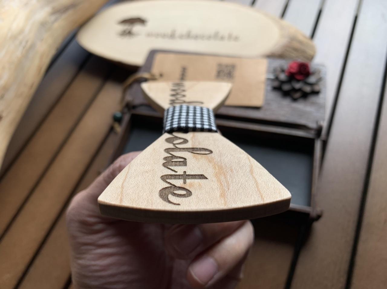 木製 蝶ネクタイ #woodchocolate - 画像4
