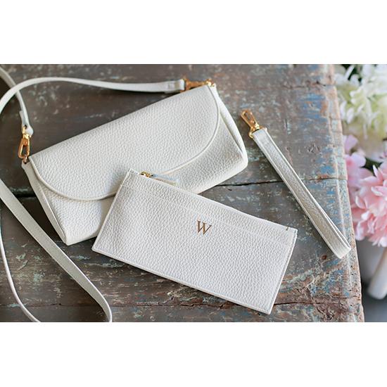 Premium Shrink Leather Pochette Wallet (イニシャルポシェットウォレット)