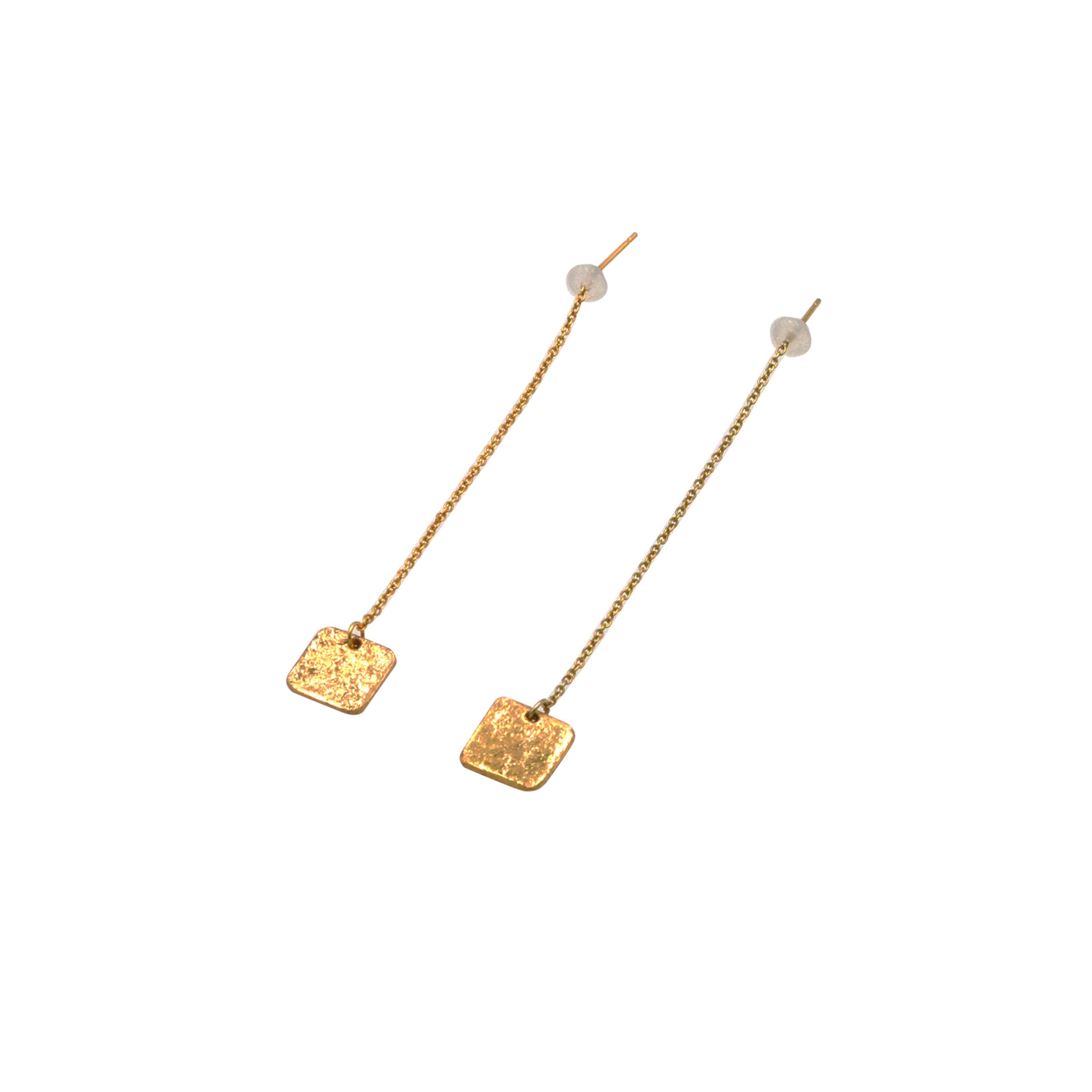 《ピアス》TIN BREATH Pierced earrings A 10×10mm Gold