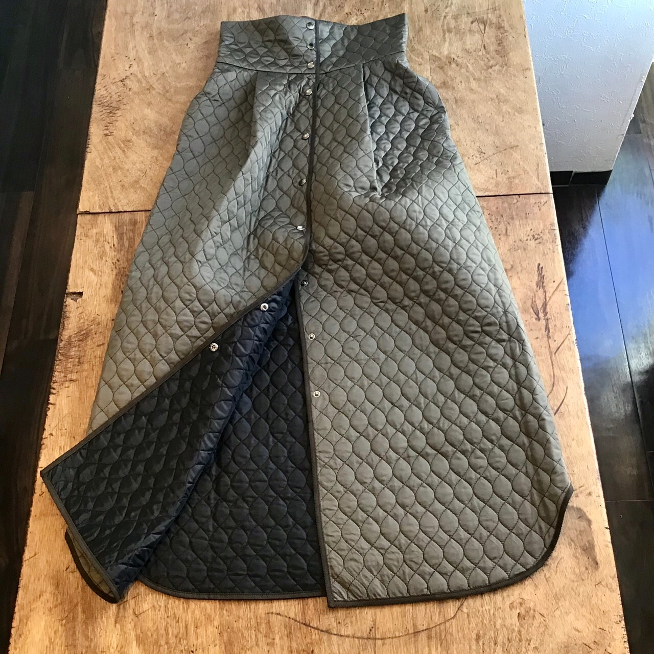 FUMIETANAKA F20A-28 qulting skirt color khaki size 36