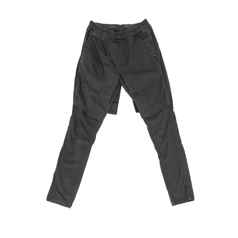 607PAM4-CHARCOAL / アタッチドサイドレススカートパンツ