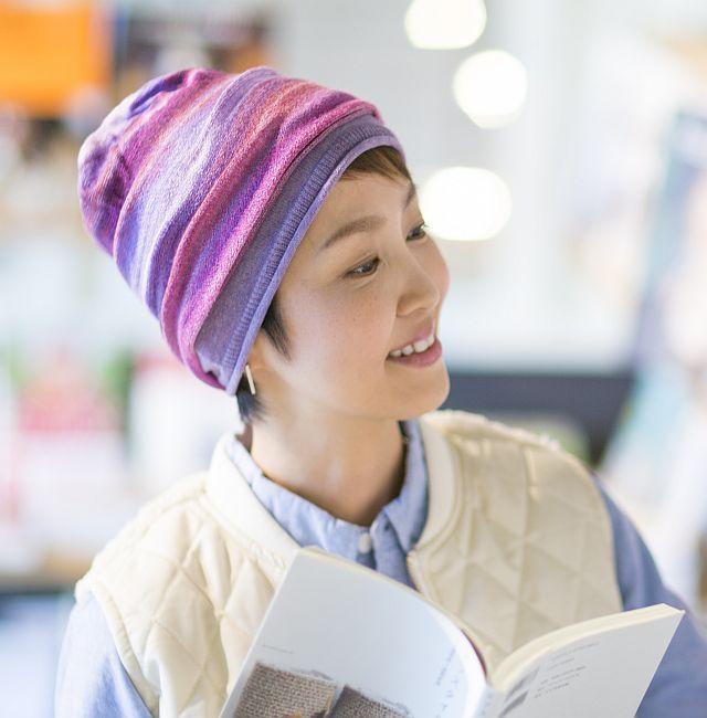 【送料無料】こころが軽くなるニット帽子amuamu|新潟の老舗ニットメーカーが考案した抗がん治療中の脱毛ストレスを軽減する機能性と豊富なデザイン NB-6059|東雲(しののめ) - 画像5