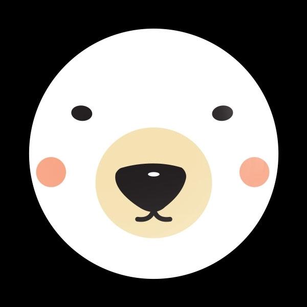 ゴーバッジ(ドーム)(CD0889 - Seasonal Polar Bear) - 画像1