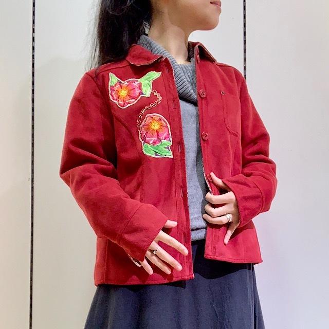 drm-045 レザー調の真っ赤なジャケット