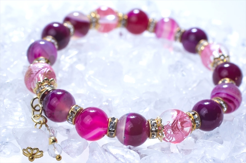 Lucky Pink 四神水晶【パワーストーンブレスレット 】 - 画像2