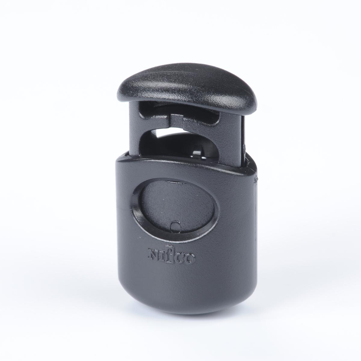 nifco コードロック 3mmのひもやゴム用 金属ばね CL17黒 1個