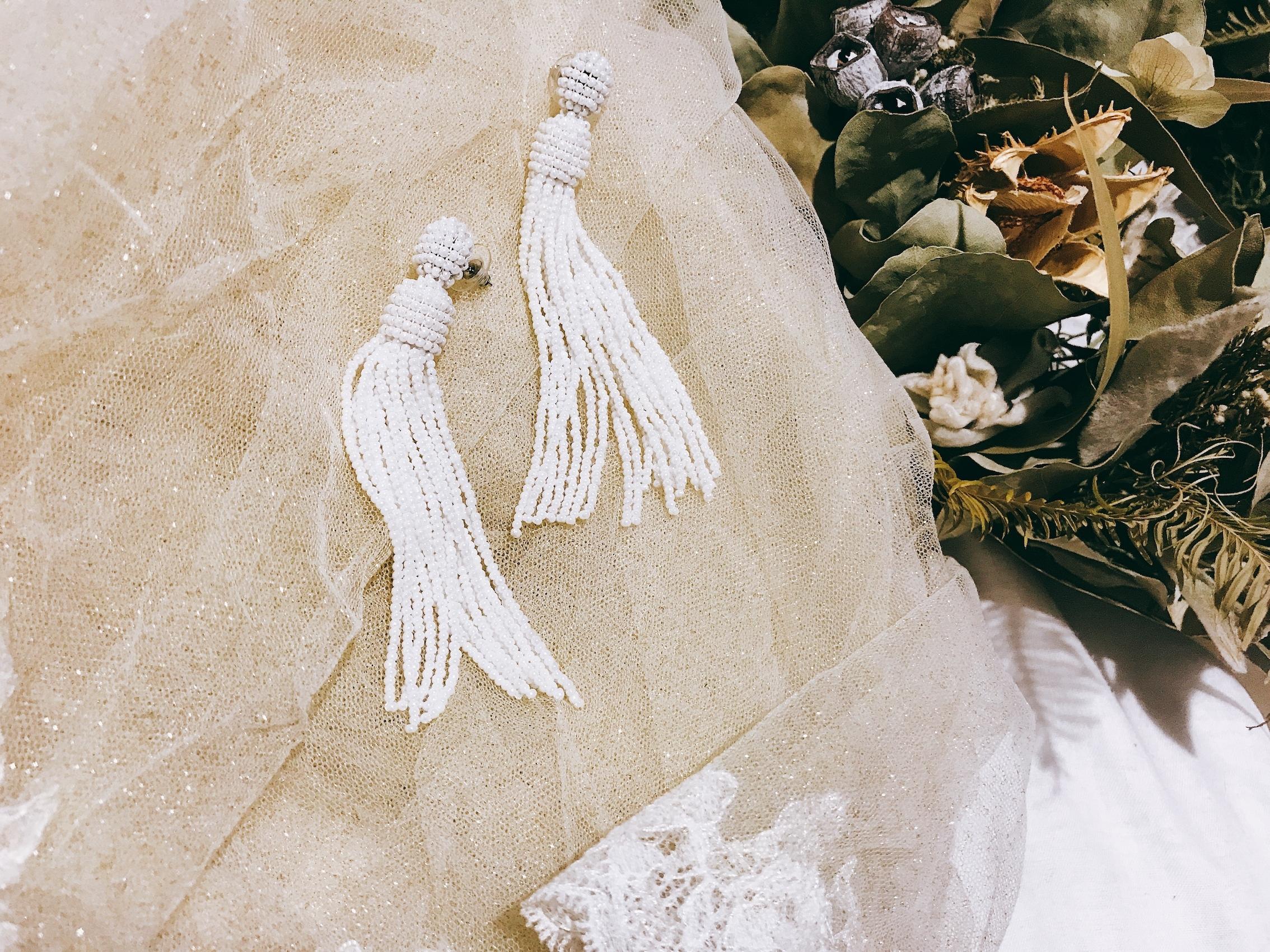 Tassel dress《パールホワイト》