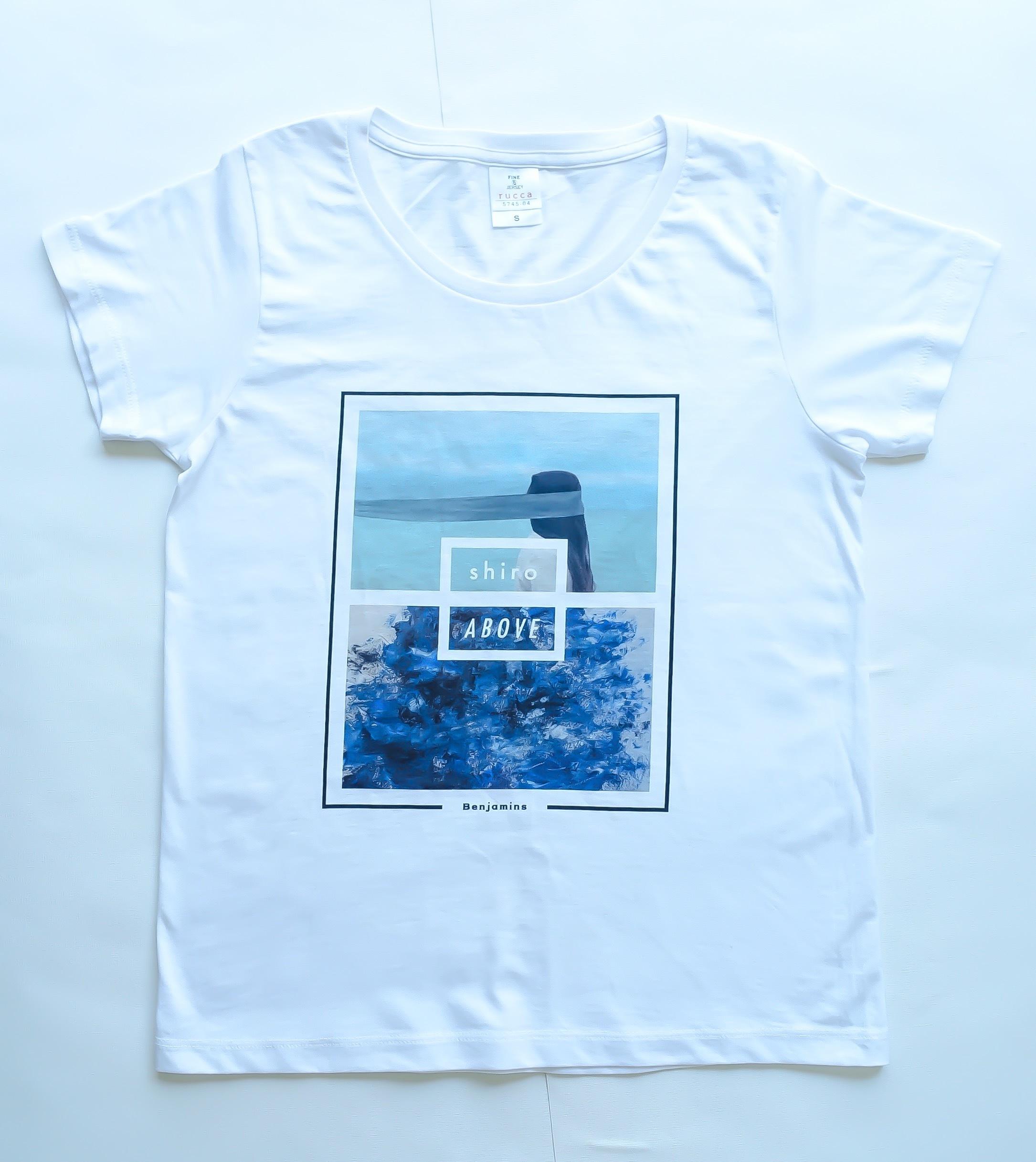 """""""shiro"""" × """"ABOVE"""" Tシャツ"""