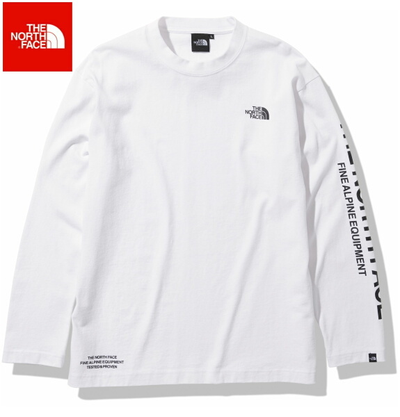ノースフェイス ロンT 長袖 Tシャツ メンズ THE NORTH FACE ロングスリーブテステッドプルーブンティー NT82032 ホワイト