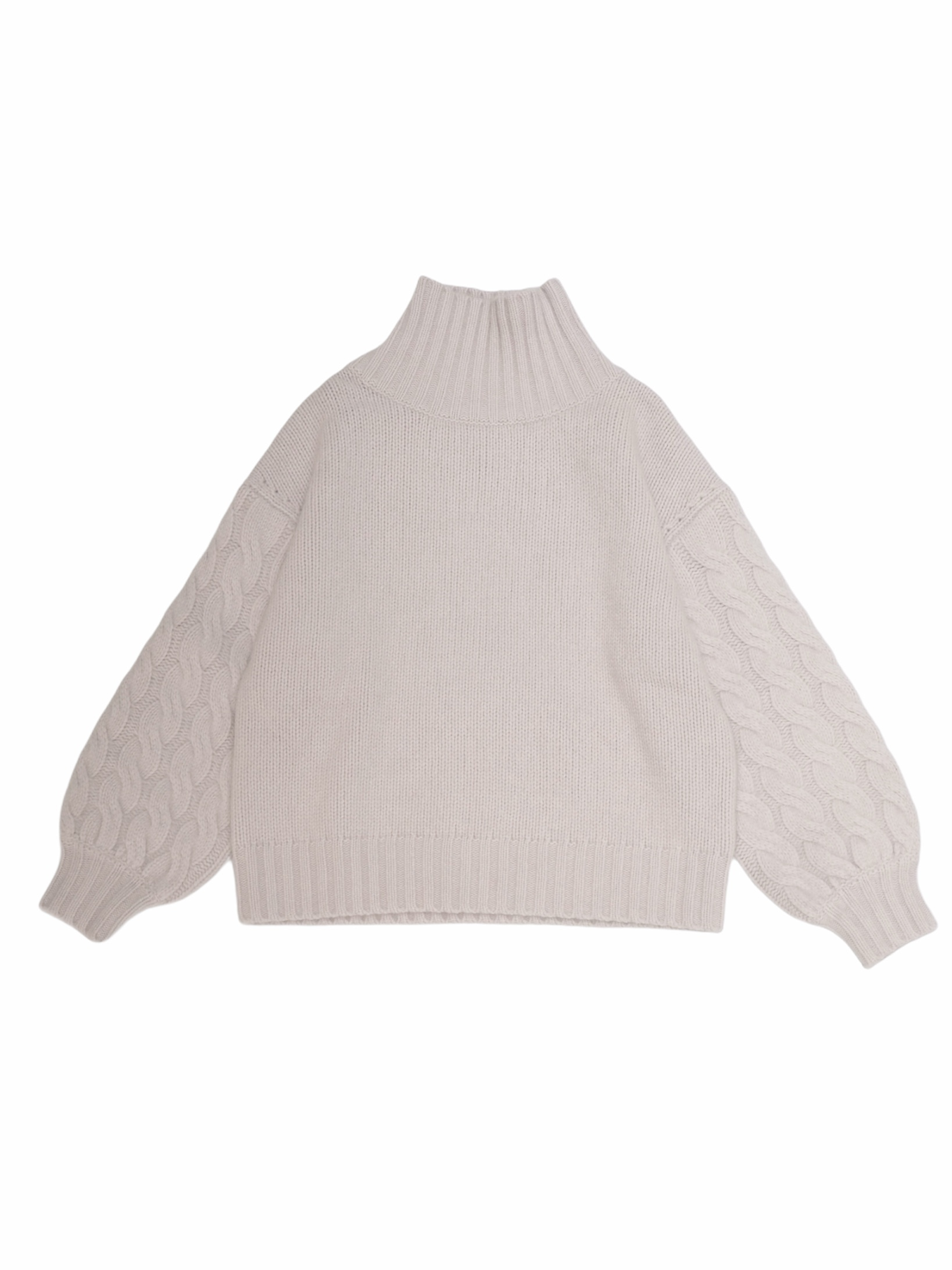 【LILLY LYNQUE】RACCOON HIGH NECK KNIT