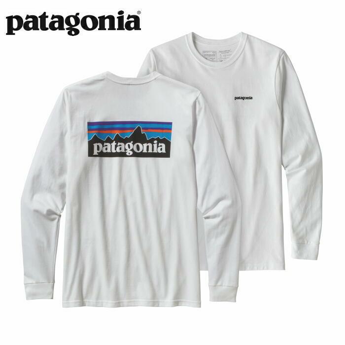 パタゴニア PATAGONIA Tシャツ 長袖 ロンT メンズ ロングスリーブ P-6ロゴ レスポンシビリティー 39161 White 【正規取扱店】