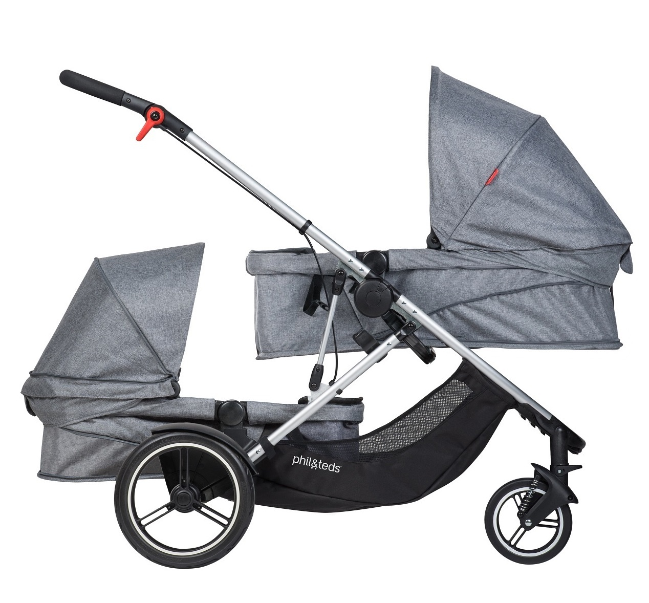【40%OFF実施中】phil&teds voyager buggy Grey Marl フィルアンドテッズ ボイジャー