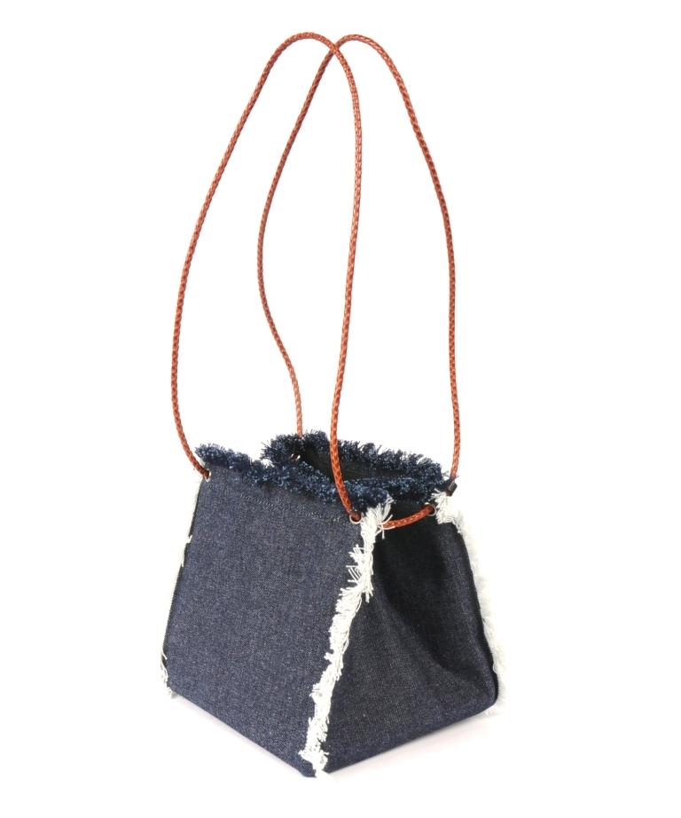 df18SM-FG01 DENIM CUBE BAG(indigo)