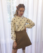 【KissMeLove】Corduroy wrap skirt
