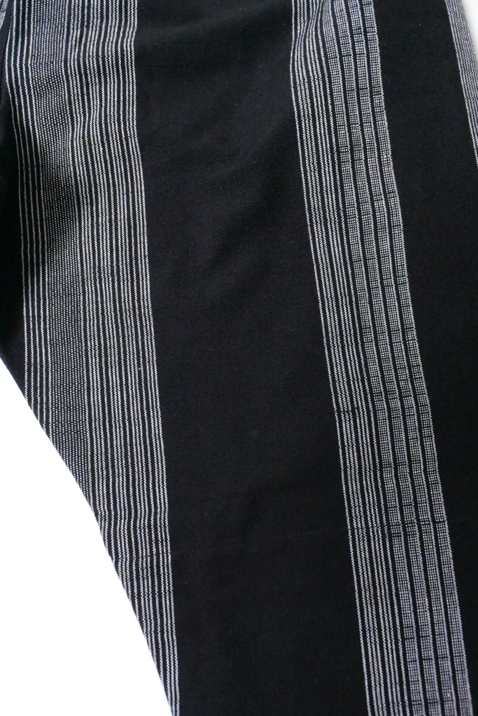 うなぎの寝床 久留米絣もんぺ(五飛十五羽縞 黒/灰) 男女兼用