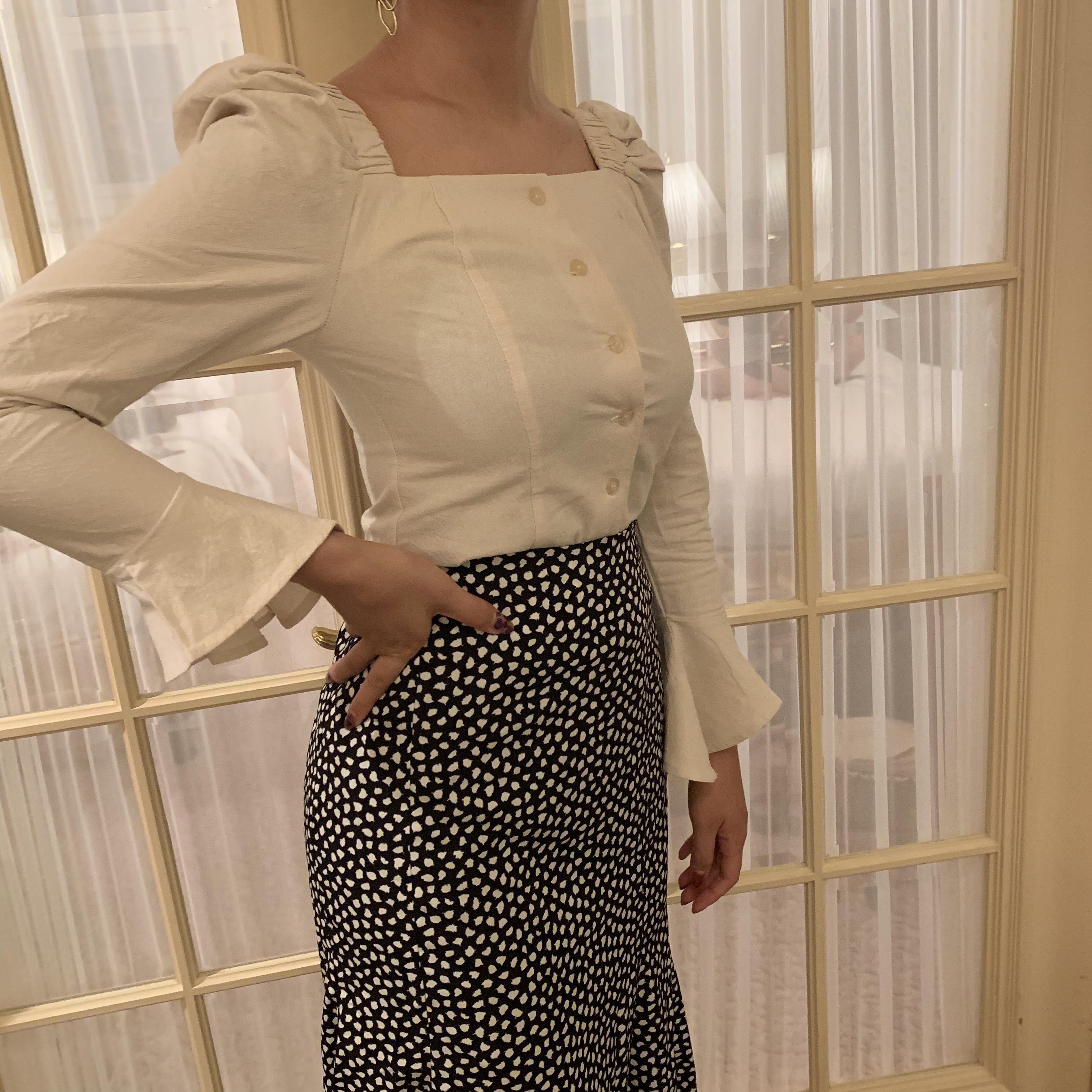 natural colour blouse