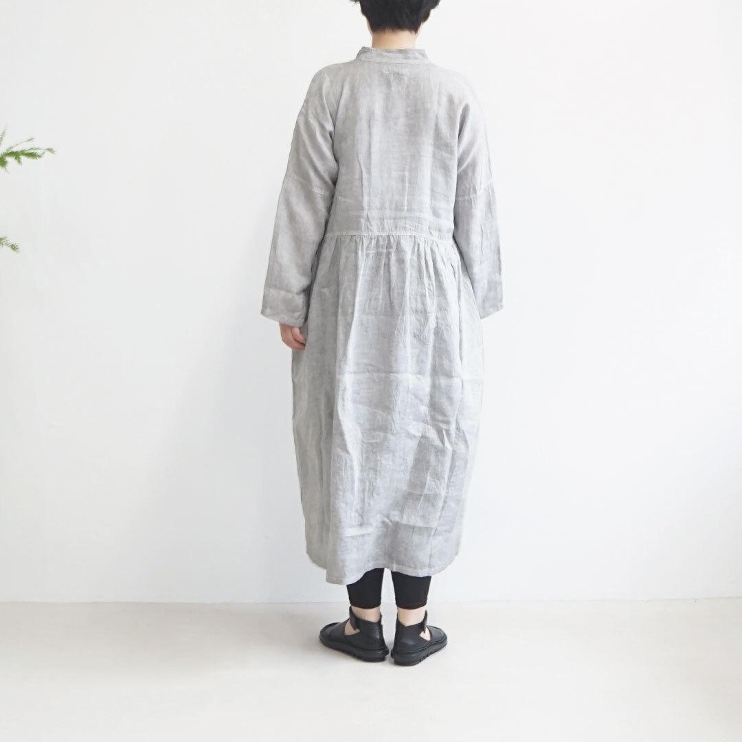 ICHIAntiquites イチアンティークス LINEN HAND DYE CHINA DRESS リネンハンドダイチャイナワンピース (品番600138)