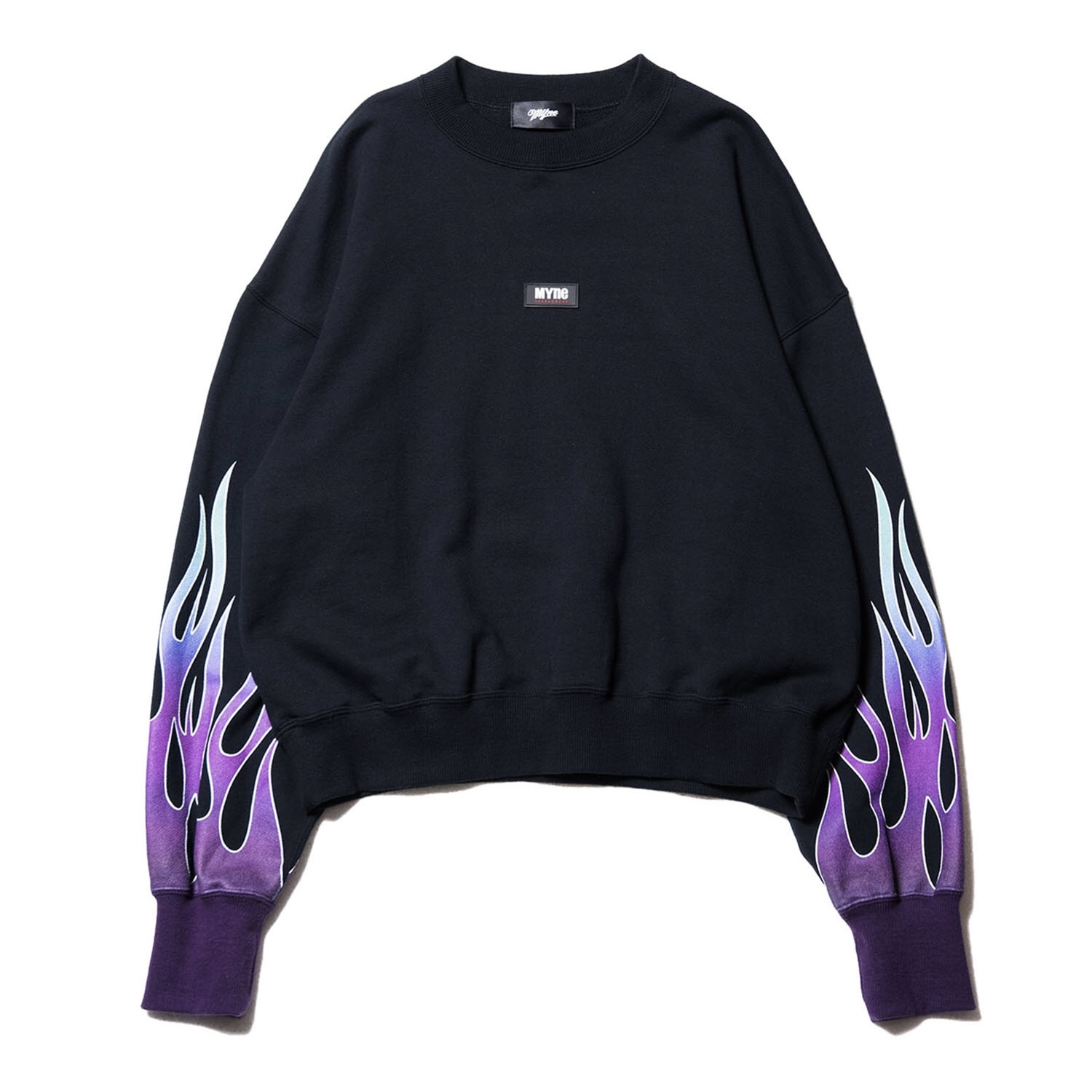 Fire sweat pullover / BLACK - 画像1