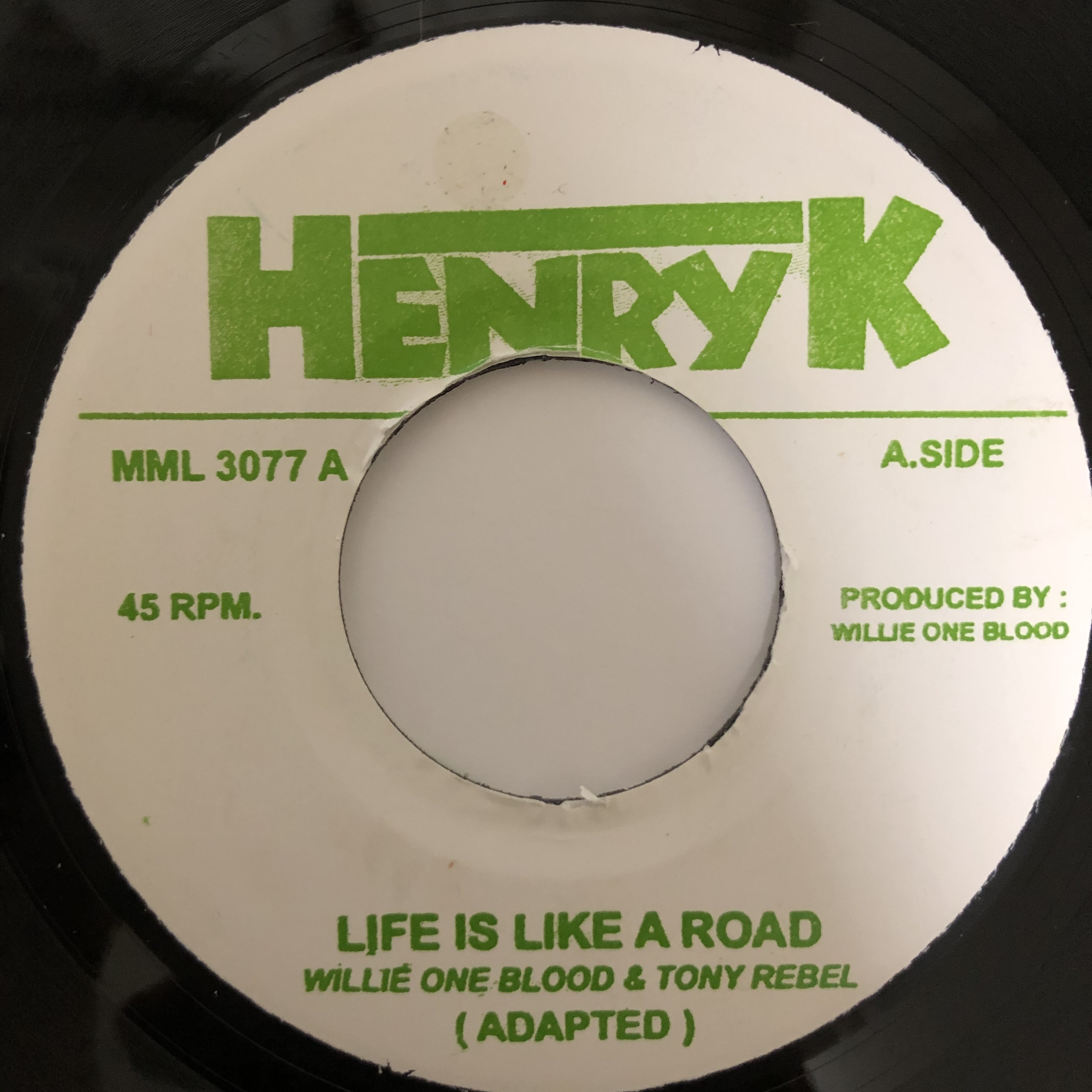 Willie One Blood & Tony Rebel ‎- Life Is Like A Road【7-20403】