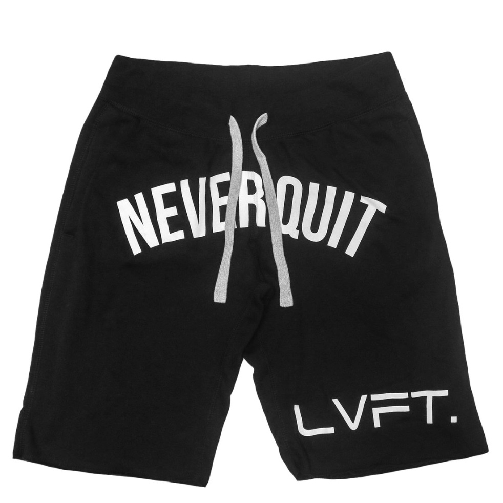 LIVE FIT Never Quit Sweat shorts-Black