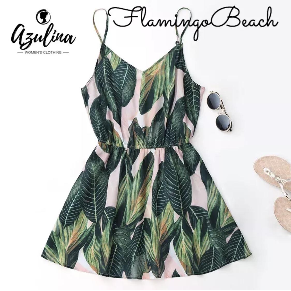 即納【FlamingoBeach】leaf onepiece