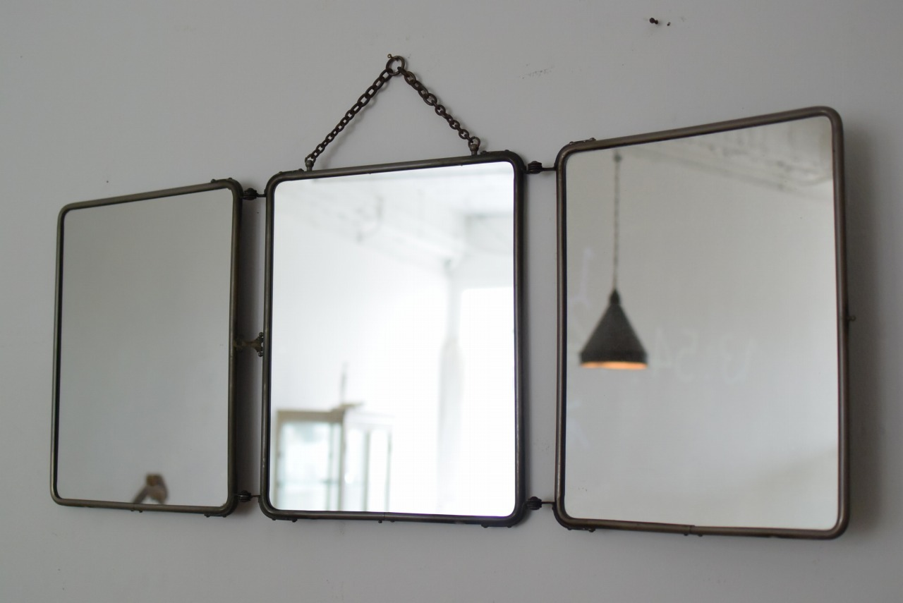 フランスアンティークの3面鏡