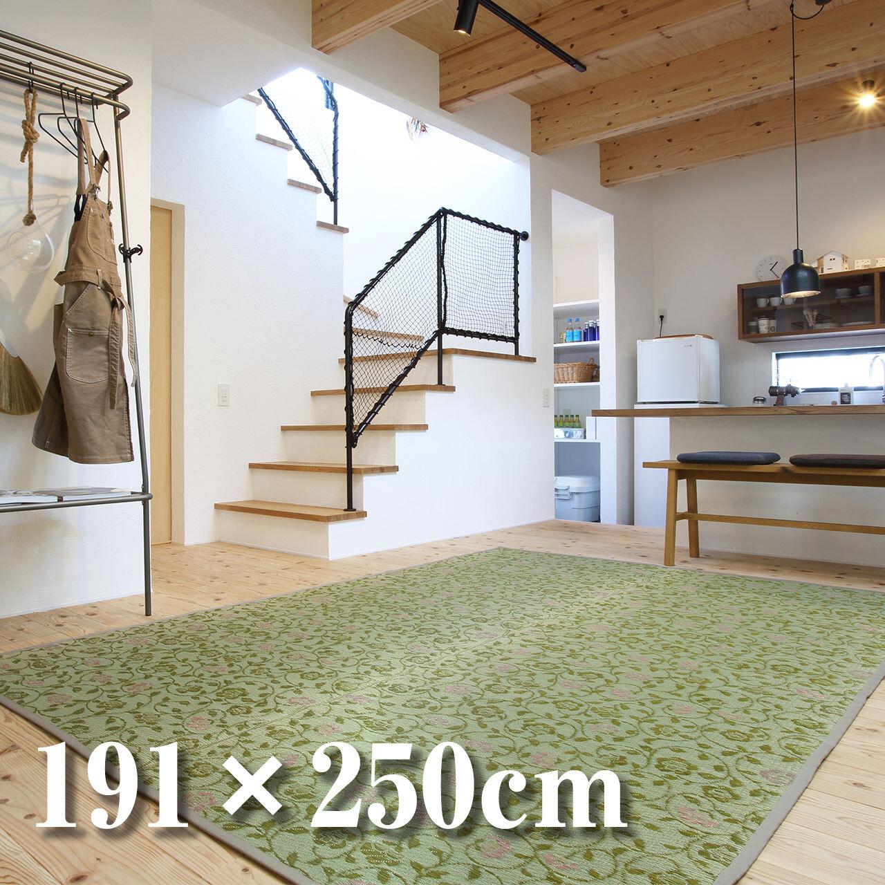 【花茣蓙ラグ】さららGN 191×250cm / [Hanagoza-rug] Sarara GN